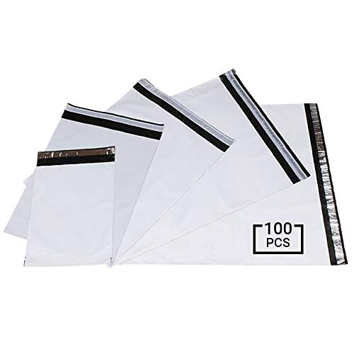 100x Plastik Versandtasche 310x 420 mm selbstklebend blickdicht Versandtüte Warenbeutel Plastikbeutel Folienbeutel Folienversandtasche Kurierumschlag Versandbeutel aus Folie für Kleidung, Textilien