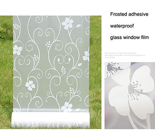45/60/90 * 400cm Waterdicht Mat Ondoorzichtig Glas Raamfolie, Privacy Zelfklevende Glasstickers Home Decor PVC Toilet Badkamer, 60x400 cm