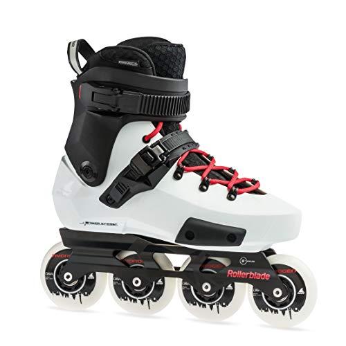 Rollerblade Twister Edge X Unisex Adult Fitness Inline Skate, Black and White,Premium Inline Skates, US size 11