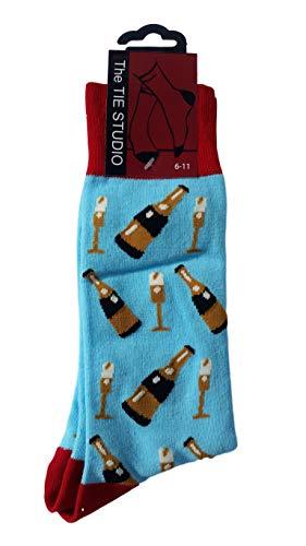 Champagne Unisex Novelty Ankle Socks Adult Size 6-11