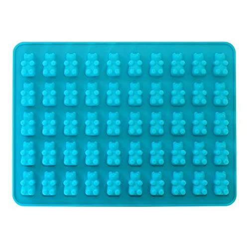 50 Cavity Silicone Bear & Chocolate Mold - Gummy Bear Maker, Healthy Sugar Free Gummys