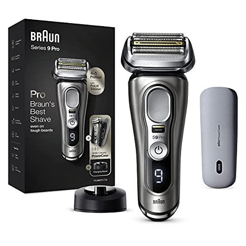 Braun Series 9 Pro 9425s Rasoio Elettrico Barba, Testina con Rifinitore ProLift 4+1, PowerCase, Batteria da 60 Minuti, Uso Wet&Dry per Barba di 1, 3 e 7 Giorni