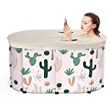 <span class='highlight'><span class='highlight'>knowledgi</span></span> Portable Bathtub Adult-folding Bathtub Adult With Thermal Insulation Cover,Foldable Free Standing Soaking Bath Tub,Easy To Install,Efficient Maintenance Of Temperature