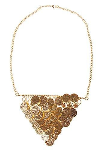 Halloweenia - Kette Münzen- orientalischer Kostüm Schmuck Collier Orient Bauchtanz Harem Cleopatra goldglänzend, Gold