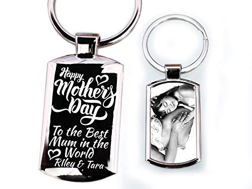 Elips - Llavero Personalizado con Mensaje Grabado Personalizado, con Foto Impresa en el día de la Madre, Regalo de Abuela