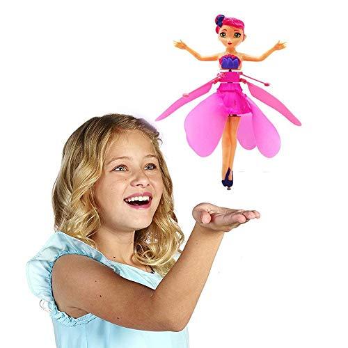 Rvest Fliegende fee Spielzeug mit Lichtern Infrarot-Induktionssteuerung RC Hubschrauber Kinder Spielzeug Ballett Mädchen Fliegende Prinzessin Spielzeug