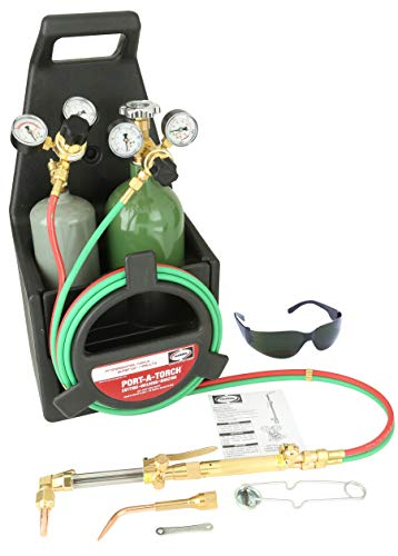 Harris Model 85601-200 Port-A-Torch Deluxe Heavy Duty Brazing, Welding And Cutting Outfit With 20 cu ft R Oxygen Cylinder And 10 cu ft MC Acetylene Cylinder, CGA-200