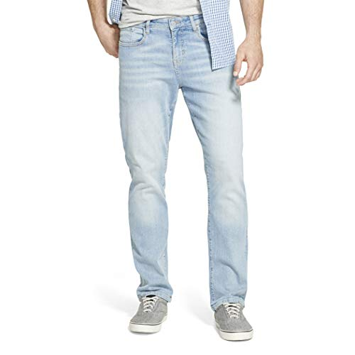 IZOD Men's Big & Tall Comfort Stretch Relaxed Fit Jean, Dusty Blue, 36W X 32L
