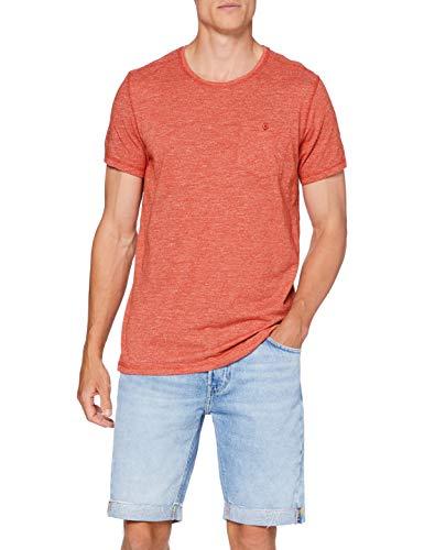 Springfield Bolsillo Textura-c/68 Camiseta, Multicolor (Wine 68), S (Tamaño del Fabricante: S) para Hombre
