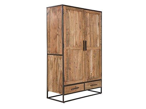 Massivum Oklahoma Wäscheschrank 2Tür/2Schub Hell, Holz, Natur, 50 x 120 x 190 cm