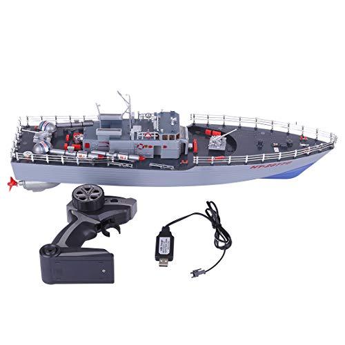 ZUJI Barco Teledirigido 1:115 2,4G RC Barco Militar Buque de
