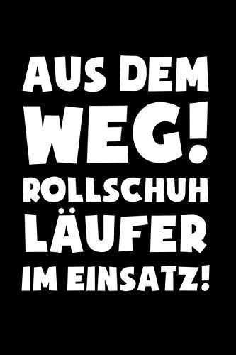 Rollschuhe: Rollschuhläufer im Einsatz!: Notizbuch / Notizheft für Roller-Skates Roller Derby Disco 80er A5 (6x9in) liniert mit Linien