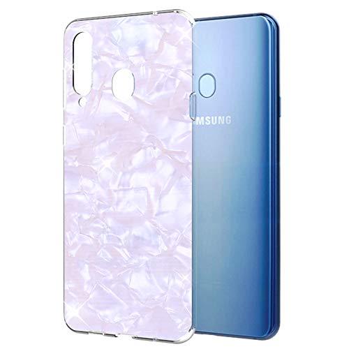 OKZone Samsung Galaxy A8S Hülle [mit HD-Bildschirmschutz], Cute Glitzer Bling Design Weich TPU Silikon Schutzhülle Handy Tasche Rückseite Schale für Samsung Galaxy A8S (Weiß)