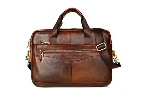 NM 14 Pollici Laptop Valigetta, Business Leisure Vintage Zaino Notebook Computer Bag, Spalla Borsa Messenger Bag Impermeabile in Pelle Borsa per Gli Uomini