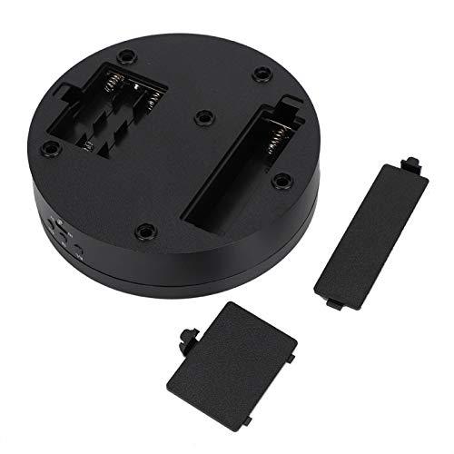 01 Présentoir de Plateau tournant, présentoir Rotatif tournant à 3 Vitesses Micro USB 5V Noir pour téléphone à Bijoux pour Montres Modèles 3D pour expositions de Produits de Photographie
