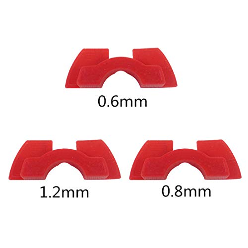 heavKin Scooter Rubber Shock Absorber Compatible with Xiaomi Mijia M365 M365 Pro (Red, 3PC)