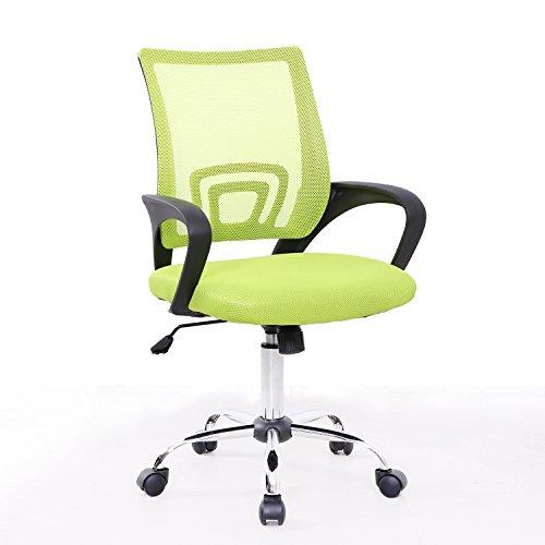 SVITA Kinder Schreibtischstuhl Bürostuhl Netzbezug Drehstuhl Stuhl Schreibtisch (Schwarz)