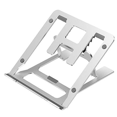 Laptop Stand, Ajustable Soporte para Portatil, Soporte de Aluminio de Múltiples Angulos Compatible con MacBook, HP, DELL, más portátiles para PC de 10-15,6 Pulgadas,Plata