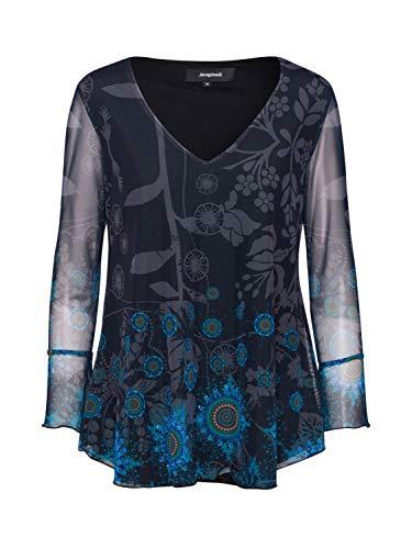 Desigual TS_brouke Camiseta, Azul (Marino 5001), Medium para Mujer