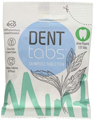 DENTTABS Zahnputztabletten stevia-mint fluoridfrei 125 St Tabletten