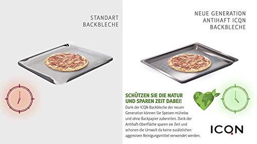 ICQN bakplaat met antiaanbaklaag | blik | bakplaat | universele bakplaat | geschikt voor Bosch-Siemens | email bodem | 455 x 377 x 30 mm | BSH Group 662999-00662999 Compatibel