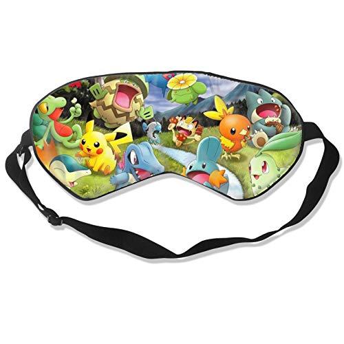 3D-Druck Ostern TV Show Film Satoshi Pocket Mons-ters Pokemon Pikachu Augenbinde Schlafmaske Unisex 3D Druck Ostern