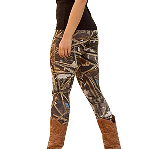 Gillberry Fashion Women Skinny Printed Stretchy Pants Leggings Christmas Clothes (L, Black B)