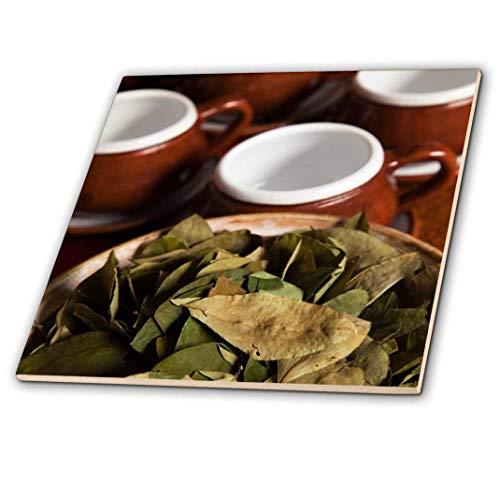 3dRose Peru, Cuzco. Coca Blätter und Tee Tassen–SA17bja0152–JAYNES Galerie–Keramik Fliesen, 4-Zoll (CT 86965_ 1)