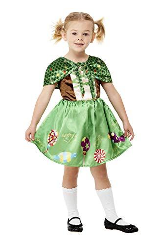 Smiffys Smiffy's 71062T1 Gretel-Kostüm für Kleinkinder, Jungen, grün, Toddler-1-2 Years
