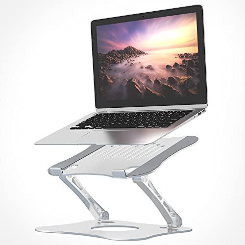 VOOV Supporto per Laptop, Supporto ergonomico per Computer Compatibile con Notebook e Tablet PC, Realizzato in Lega di Alluminio, Regolabile in Altezza con Design