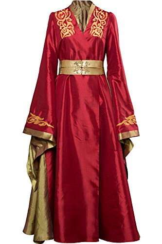 Cosplaysky Game of Thrones Costume Cersei Lannister Red Dress Large
