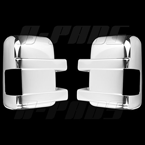 A-PADS 2 Chrome Telescopic Mirror Covers for Ford F-250 & F-350 +SUPER DUTY...