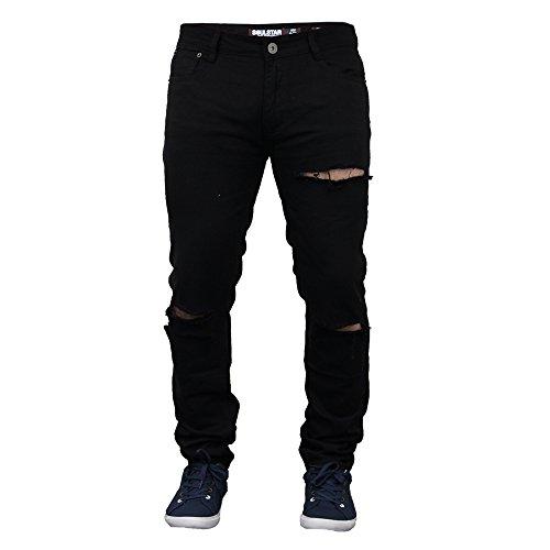 Herren Zerschlissene Jeans Hautenge Jeans Von Soul Star - Herren, Schwarz - DEOMULTI, W36 x Regulär
