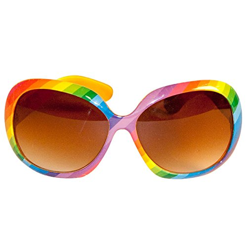 PARTY DISCOUNT ® Neu Brille Rainbow Seventies, 1 Stück