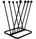 ARSUK Boot Rack, Walking Boot Stand, Walking Boots or Shoes Cleaner - Welly, Boot or Shoe Storage Solution - Wellington Boot Scraper (4 Pair Boot Rack)