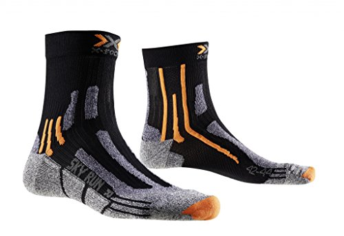 X-Socks Sky Run Two Calza Running, Uomo, Nero (Black), 35/38