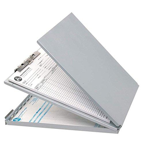 Westcott E-17002 00 Formularhalter-Box aus Aluminium, DIN A4, mit Aufbewahrungsfach und Zwischenablage, oben öffnend