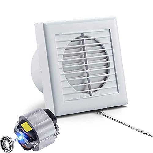 GAXQFEI Ventiladores de Extractor de Ventilación de 6', Ventilador de Escape Montado en la Pared O Montado en el Techo con el Obturador Del Tiro Trasero para el Baño Del Baño 224M3 / H (150 Mm)