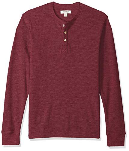 Marchio Amazon - Goodthreads, maglia termica stile Henley da uomo, a maniche lunghe, Viola (burgundy), US M (EU M)