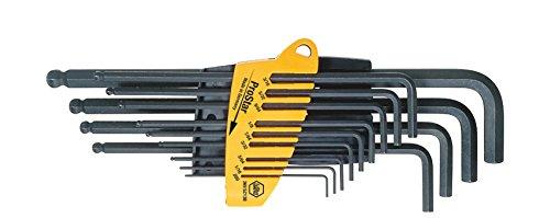 Wiha Stiftschlüssel Set im ProStar Halter Sechskant-Kugelkopf, schwenkbar für schwer zugängliche Bereiche, 13-tlg.brüniertZoll-Ausführung (24189)