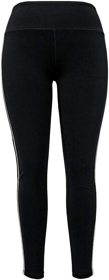 Tangerine Womens Size Small Active Stripe Legging Pants, Black/White
