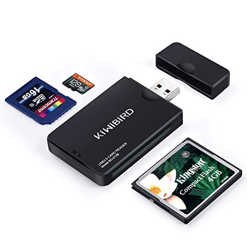 KiWiBiRD USB 3.0 (3.1 Gen 1) Lettore di Schede Super-Speed 9-in-1 per Schede CF Compact Flash (UDMA), SDXC, SD, MMC, RS-MMC, SDHC, Micro SD, Micro SDX
