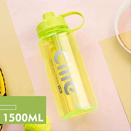 Generic Brands Bouteille anti-fuite sans BPA avec lettres et marques de volume, idéale pour le camping, le pique-nique et le cyclisme Remarques : 1 500 ml.