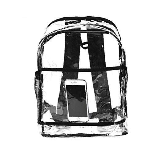 Transparent Women Backpack Waterproof PVC Casual Backpack Lady Shopping Dating Bag,Transparent