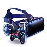 JYMYGS Gafas VR, Gafas de Realidad Virtual, VR Glasses Visión Panorámico 360 Grado Película 3D Juego Immersivo para Móviles 4.0-6.0 Pulgada para iPh X/7/6s 6/Plus, Galaxy s8/ s7, etc. N094JL