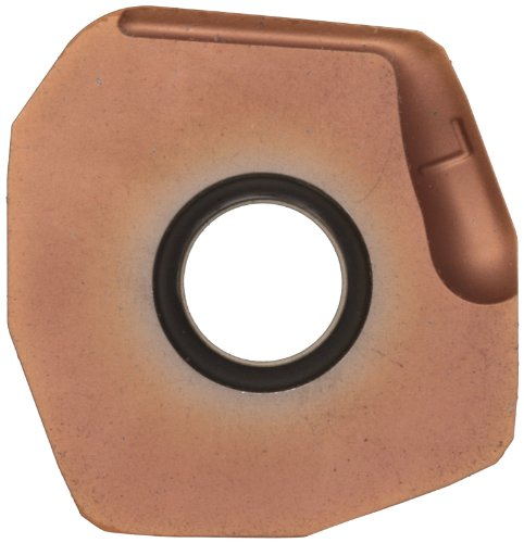 "Sandvik Coromant COROMILL Carbide Milling Insert, 345R Style, Square, GC1020 Grade, TiAlN Coating, 345R1305EKL,0.22"" Thick, 0.032"" Corner Radius (Pack of 10)"