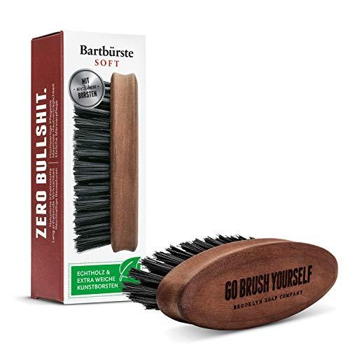 Brooklyn Soap Company - Cepillo con cerdas veganas extra suaves para el cuidado diario de la barba de 3 días o barba completa, como regalo para hombres