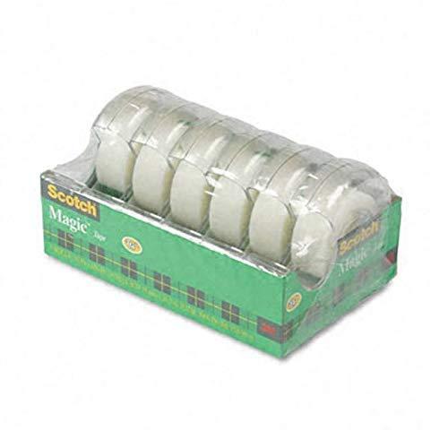 scotchâ ® magictm oficina cinta en dispensador de mano recargable, six-roll Pack cinta, Trans, 6pk wdisp, CR (Pack de 5)
