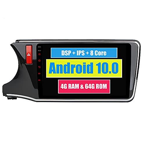 RoverOne 10,2 Pouces Système Android Octa Core pour Honda City 2015 2016 2017 Autoradio Système stéréo avec Radio Navigation GPS Bluetooth Mirror Link écran Tactile