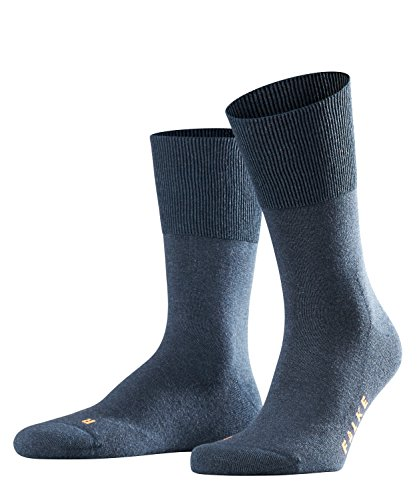FALKE unisex-adult Run Casual Sock - Cotton Blend, Blue (Navy Blue Melange 6490), US 9-10 (EU 42-43 Ι UK 8-9), 1 Pair